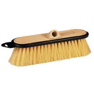 Stiff flow-thru brush.