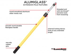 Alumiglass® Telescopic Extension Poles