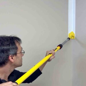 Painting with an extension pole