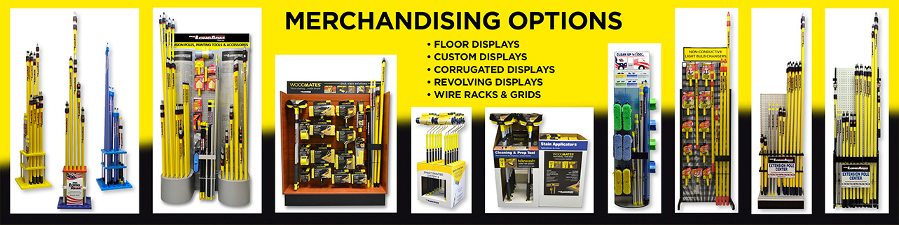 Merchandising Options for Mr. LongArm Extension Poles, Attachments & Accessories