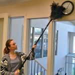 Mr. LongArm feather duster with pole.