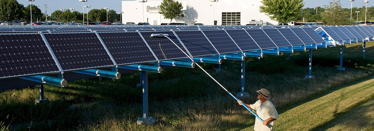 ProCurve Professional Window Cleaning Extension Pole cleaning solar panel array