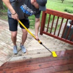 Deck Staining with the 7 inch stain applicator