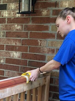 Deck staining with the Contour stain applicator
