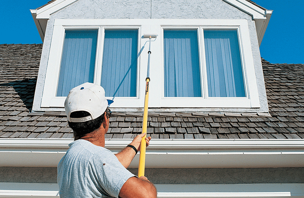 Pick this Mr. LongArm 3-section extension pole if you need to paint a 2-story home.