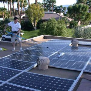 Professional ProCurve cleaning rooftop solar panels