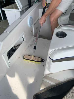 Getting the boat interior ready for summer