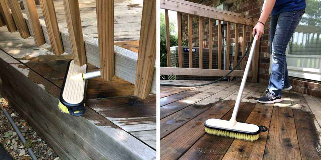 How to clean your deck with Telewash.