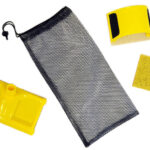 Stain kit includes 7 inch and Contour w/replacement and mesh bag
